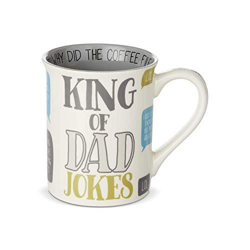 Enesco 6003384 Our Name is Mud King of Dad Jokes Coffee Mug, 16 oz.
