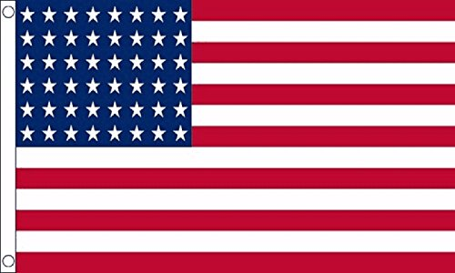 Union 48 Stars 1912 to 1959 Flag 5'x3' (150cm x 90cm) - Woven Polyester ()