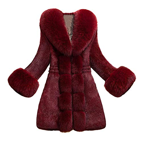 Orangeskycn Women Fashion Faux Fur Coat Elegant Thick Warm Outerwear (Club Country Blazer)