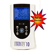 TENS MACHINE (INTENSITY 10 TENS UNIT) DIGITAL UNIT FOR PAIN RELIEF, MUSCLE STIMULATION & PULSE MASSAGING with AC ADAPTER