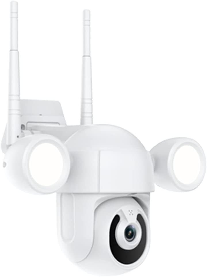 Floodlight Camera Wireless WiFi 3MP Dome Surveillance Security Auto Tracking Tuya Smart Life Home Two-Way Audio MicroSD Cloud Storage 4X Digital Zoom IP66 Waterproof Outdoor (3MP Camera)
