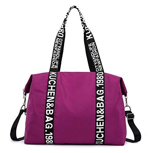 Grande Fourre Nylon Capacité Mode En sac Xingf tout Sac Bandoulière De Personnalité Purple La Femme Bandoulière Bagages À sac Pour qzwB4ZOz