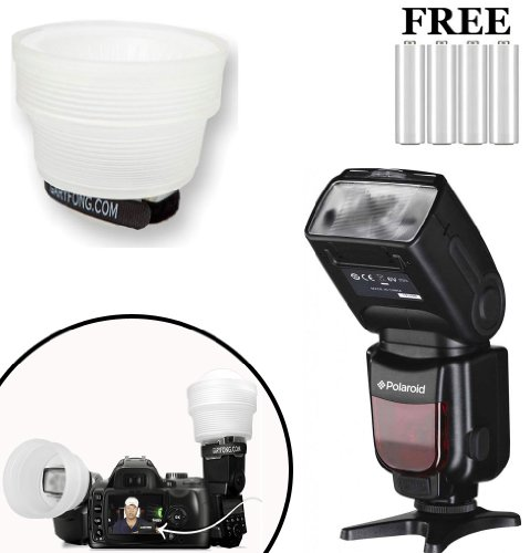Polaroid PL190 Power Zoom DSLR Wireless TTL Flash And a G...