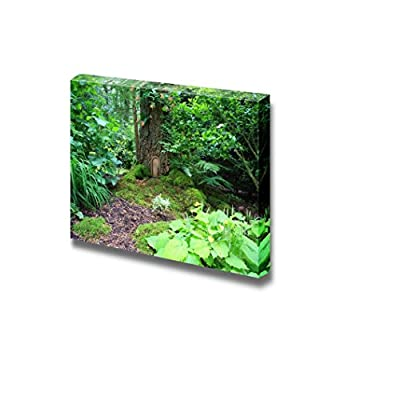 Canvas Prints Wall Art - Little Fairy Tale Door in a Tree Trunk. - 24