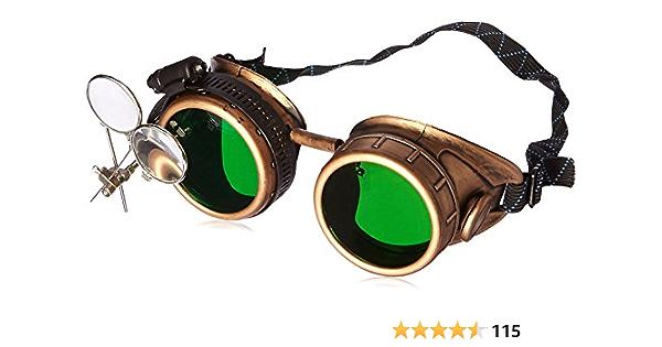 Glendale Welding Goggles Green Lens Steam Punk
