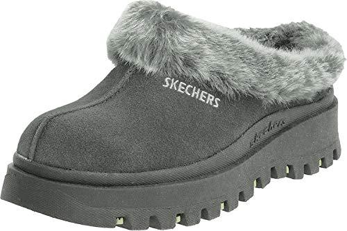 Skechers Women's Fortress Clog Slipper, Charcoal, 8 M US
