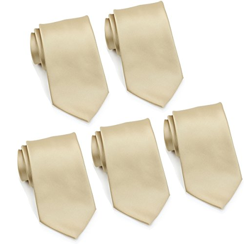 Mens Formal Tie Wholesale Lot of 5 Mens Solid Color Wedding Ties 3.5