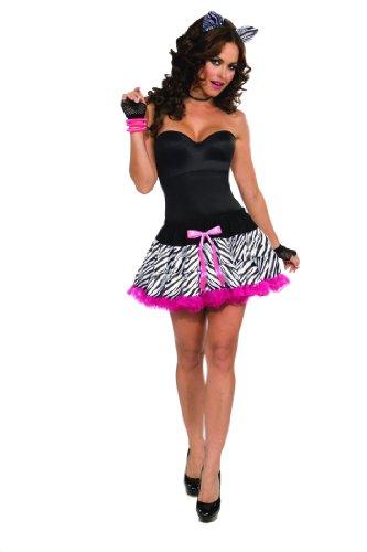 [Zebra Costume Tutu & Headband Set Adult One Size Fits Most] (Zebra Head Costumes)