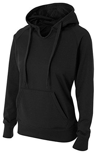 A4 Tech Fleece Hoodie, XL, Black