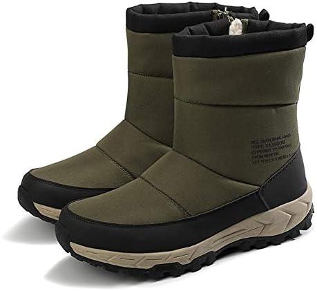 メンズ新古典的な雪のブーツカジュアルウォーキングシューズジッパー 暖かく快適アンクルブーツプラスベルベット側 (色 : 緑, サイズ : 27 CM)