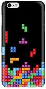 Stylizedd Apple iPhone 6 Plus Premium Slim Snap case cover Gloss Finish - Tetris (Black) I6P-S-251