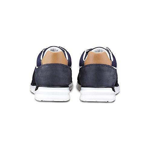 Leder blau Lässige Cox Freizeit Looks Casual Halbschuhe für dunkel Blaue Sneaker qY7O7wtz