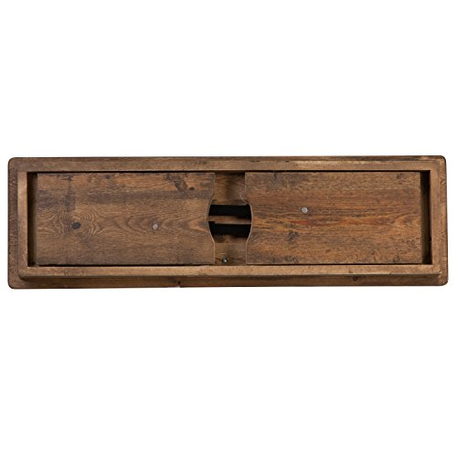Flash Furniture HERCULES Series 40'' x 12'' Antique Rustic Solid Pine Folding Farm Bench - XA-B-40X12-GG