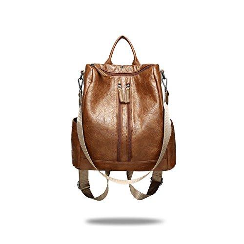 NICOLE&DORIS Fashion Schoolbag Travel Backpack Women Shoulder Bag Daypack Girls PU Leather by NICOLE&DORIS