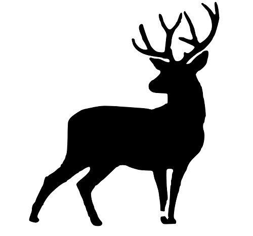 Pack of 3 Full Buck Deer Stencils Made from 4 Ply Mat Board 11x14, 8x10, 5x7 Woodburns Stencil Shop 4336891263