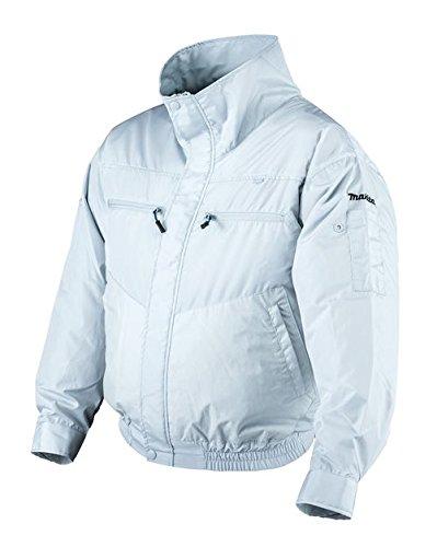 マキタ 充電式ファンジャケット Lサイズ 立ち襟モデル 一般作業向け ジャケット+ファン 白(バッテリ、バッテリホルダ、充電器別売)FJ202DZL