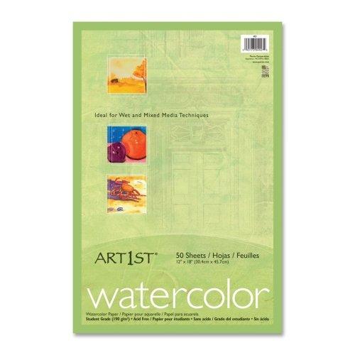 """Wholesale CASE of 10 - Pacon Art1st Watercolor Paper-Watercolor Paper, 90lb., 12""""x18"""", 50SH/PK, White"""