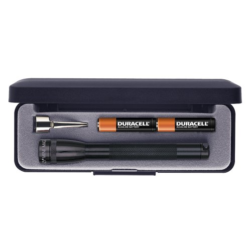 Aaa Minimag Black Flashlight (Maglite Mini Incandescent 2-Cell AAA Flashlight in Presentation Box,)