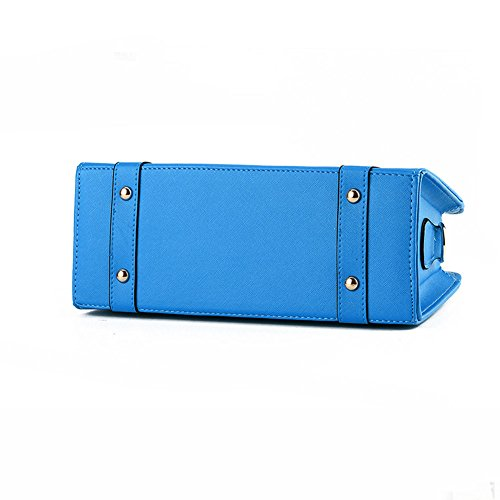 Fashion Blue Handle Bag Office Top Handbag Sky Women Chain Tote DELEY Shoulder APwdIOqxA