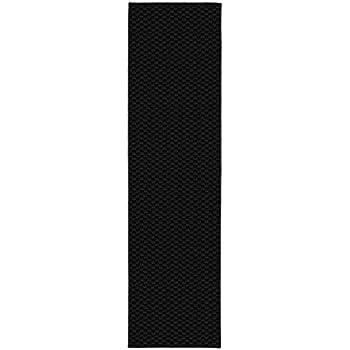 Garland Rug Medallion Rug Runner, 2 x 8, Black