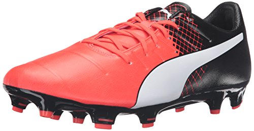 PUMA Men's Evopower 3.3 Tricks fg Soccer Shoe Red Blast White Black, 9 M US