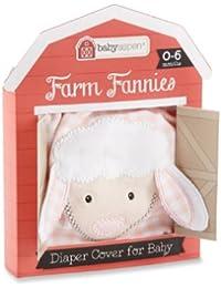 Farm Fannies Lamb Down-Home Diaper Cover, Pink, 0-6 Months