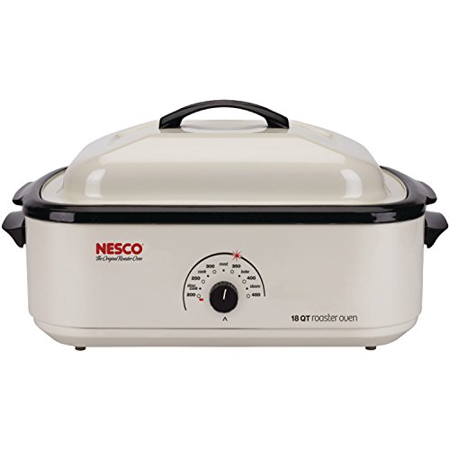 (Nesco 4818-14 Classic Roaster Oven, 18-Quart, Porcelain Cookwell,)