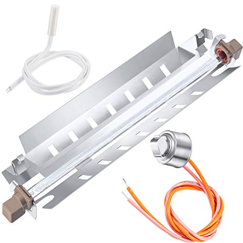 Price comparison product image Jovitec Refrigerator Defrost Replacements,  WR51X10055 Defrost Heater,  WR55X10025 Temperature Sensor,  WR50X10068 Defrost Thermostat Compatible with GE