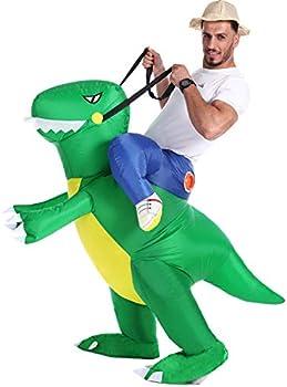 Double Couple Inflatable Dinosaur T-Rex Fancy Dress Halloween Costumes