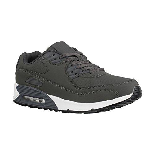 Elara Damen Herren Sneaker | Unisex Sport Laufschuhe | Turnschuhe | Chunkyrayan Grey Rome