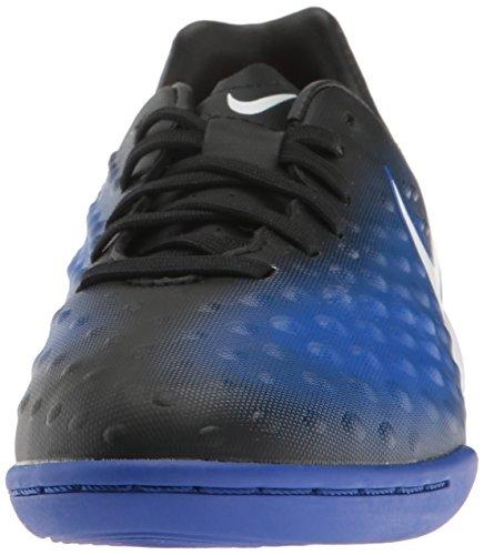 Nike 844422-015, Botas de Fútbol para Niños Negro (Black / White / Paramount Blue / Blue Tint)