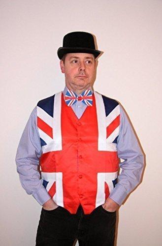 John Bull Fancy Dress kit Gilet Union jack taille moyenne