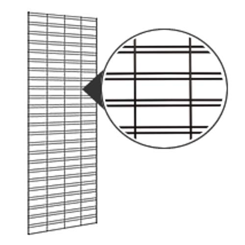 Slatgrid Panels in Powder Coated Steel with Chrome Finish 2 Ft W X 4 Ft H