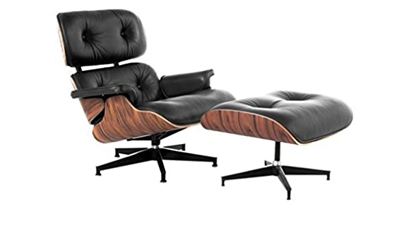 Marvelous Amazon Com Mid Century Lux Leather Lounge Chair And Ottoman Evergreenethics Interior Chair Design Evergreenethicsorg