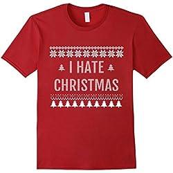 Womens I Hate Christmas Shirt - Anti-Christmas T-shirt Medium Cranberry