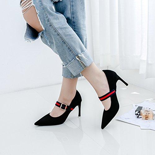 Zapatos negro Vestir Para Piel Desconocido Welldone2017 Mujer de de Ux8qn5fw