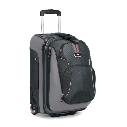 High Sierra AT605 Carryon On Wheeled Backpack with Removable Day Pack (Greystone/Shadow/Black), Bags Central