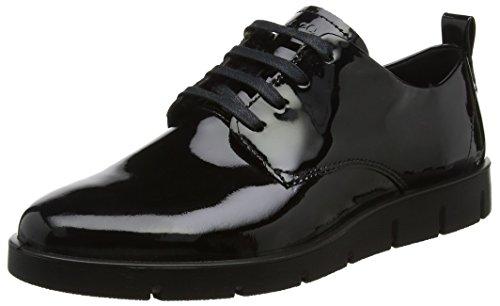 Women's ECCO Patent Lace Oxfords Shoes Black Bella qv5vpHR