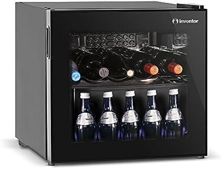 Elegante y moderna nevera para vinos con una capacidad de 43 litros para almacenar hasta 14 botellas