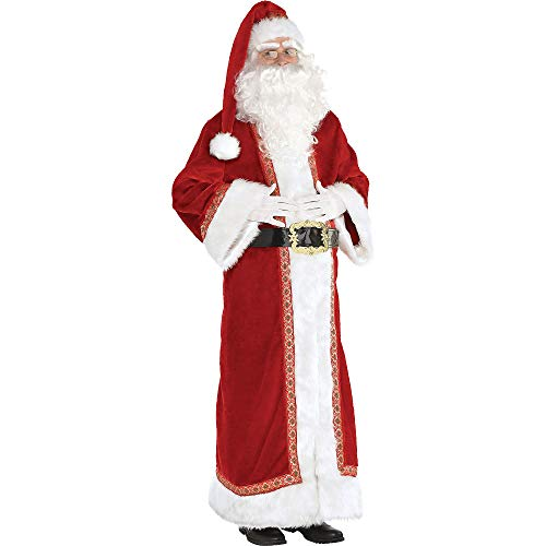 Amscan Father Christmas Santa Costume for Adults, Standard, with Included Accessories