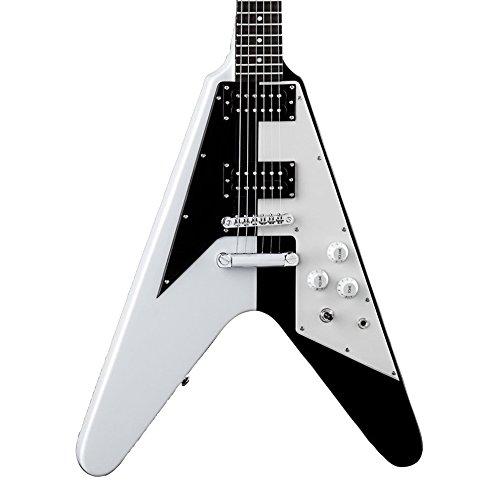 Dean Michael Schenker Signature Retro Electric Guitar, Black/White Dean Michael Schenker Lights