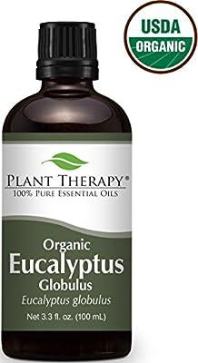 USDA Certified Organic Eucalyptus Essential Oil. 100% Pure, Undiluted, Therapeutic Grade