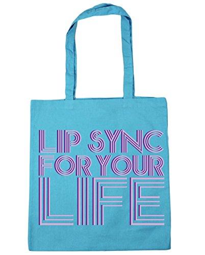 for sync litres your Gym Lip x38cm Tote Blue 42cm Bag 10 Surf HippoWarehouse life Shopping Beach SE4q515x