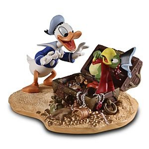 Disney WDCC ''Pirate Gold'' Donald Duck & Yellow Beak Figurine