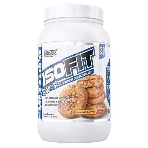 Nutrex Research IsoFit | Guilt Free Premium Dessert Whey Protein Isolate | Peanut Butter Toffee | 30 Servings Review