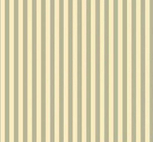 Dollhouse Miniature 1:12 Wallpaper - Heirloom Stripe - Green