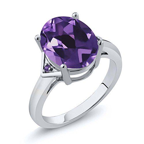 Gemstone Oval Ring - 7