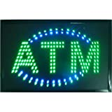 CHENXI Animated LED Business ATM Sign +On Off Switch Bright Light 48 X 25 cm (48 X 25 cm, B)