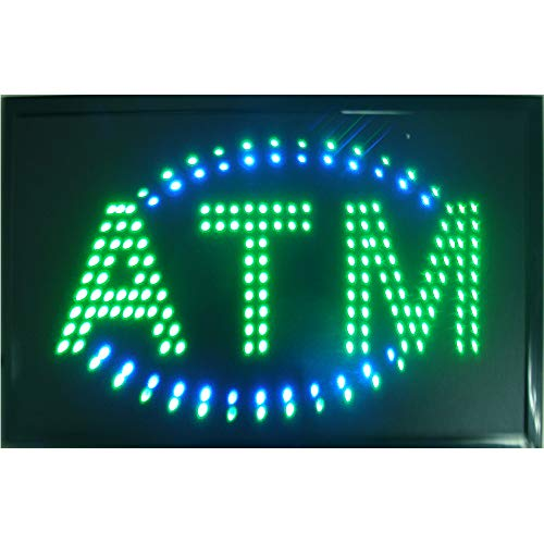 (CHENXI Animated LED Business ATM SIGN +On Off Switch Bright Light 48 X 25 CM (48 X 25 CM, B))