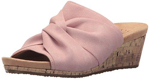 Cork Pink Wedge - LifeStride Women's Mallory Wedge Sandal, Pink, 9 M US